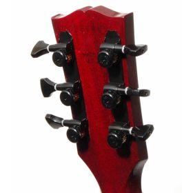 Hipshot BLACK 3+3 GripLock Open-Gear Locking Guitar Machines 3x3 Tuners w/ UMP