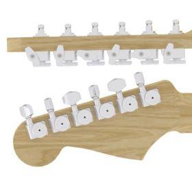 Hipshot 6K1FEL0C-STAG Grip-Lock Guitar Tuner Upgrade Kit Fender Directrofit- CHROME