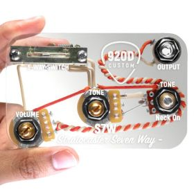 920D Custom Loaded S7W 7-Way Switch Wiring Harness Mod for S-Style Guitar