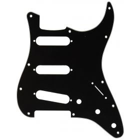 Genuine Fender Stratocaster/Strat 3-Ply 11-Hole Guitar Pickguard B/W/B - BLACK