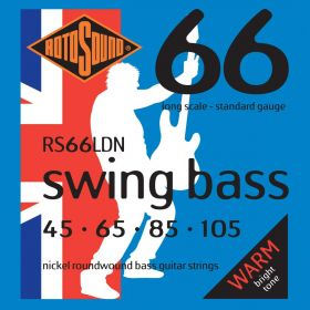 Rotosound RS66LDN Swing Bass 66 Nickel Roundwound Long Scale Bass Strings 45-105