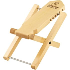 Ortega Guitars Adjustable Wooden Foot Stool, Natural