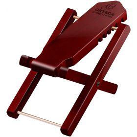 Ortega Guitars Adjustable Wooden Foot Stool, Wine Red
