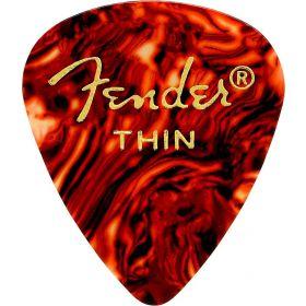 Fender 451 Classic Celluloid Guitar Picks, SHELL - THIN, 12-Pack (Dozen)