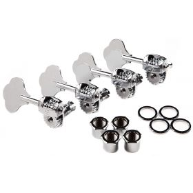 Genuine Fender Left-Handed LEFTY American Std/Deluxe Bass Tuners Set, CHROME