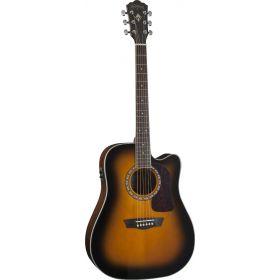 Washburn HD10SCETB Heritage Cutaway Acoustic-Electric Guitar - Tobacco Sunburst