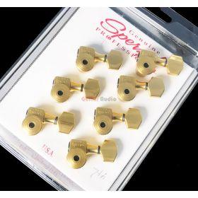 Sperzel 7-String In-Line Trimlok Locking Guitar Tuners Tuning Pegs - GOLD PLATED