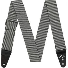 "Genuine Fender 2"" Modern Tweed Guitar Strap - White & Black - 099-1446-406"