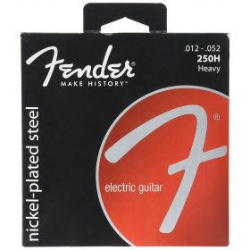 Fender Super 250H Nickel-Plated Steel Electric Guitar Strings Set - HEAVY 12-52