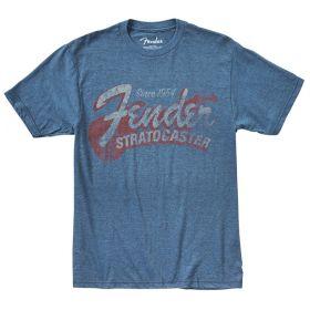 "Genuine Fender ""Since 1954"" Guitar Logo Tee Men's T-Shirt - BLUE - XXL, 2XL"