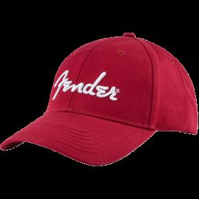 Genuine Fender Guitars Logo Stretch Cap Hat Gift, Cardinal Red