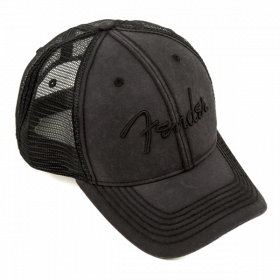 Genuine Fender Guitars Blackout Trucker Hat, One Size Fits Most