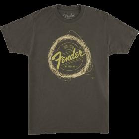 Genuine Fender Braided Guitar Strings Logo T-Shirt - Gray - Small - S