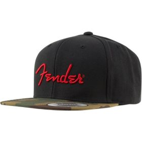 Fender Camo Flatbill Hat, Camo, One Size Fits Most 919-0119-000