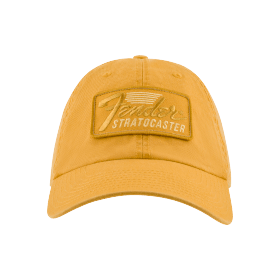 Genuine Fender Tonal Stratocaster Hat, Mustard, One Size Fits Most