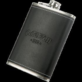 Gretsch Guitars 1883 Logo Flask, Stainless Steel & Black Leather, Musician Gift