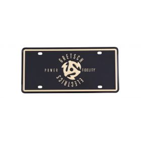 "Gretsch Guitars ""Power & Fidelity"" Logo License Plate"