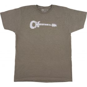 Charvel Guitar Logo T-Shirt, Heather Green, L 992-2475-606