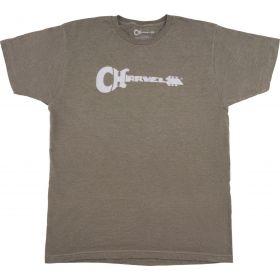 Charvel Guitar Logo T-Shirt, Heather Green, M 992-2475-506