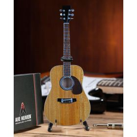 AXE HEAVEN Classic Natural Finish Acoustic Miniature Guitar Display Gift, AC-001