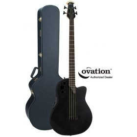 Ovation Elite TX B778TX-5 Roundback Acoustic-Electric 4-String Bass with Case