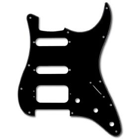 Genuine Fender American Modern Pickguard, HSS Stratocaster, 11-Hole Black 3-Ply