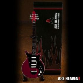 """AXE HEAVEN Brian May Signature """"Red Special"""" MINIATURE Guitar Display Gift"""