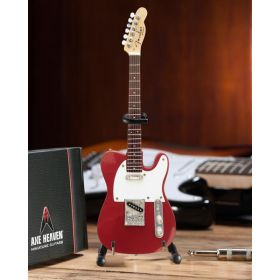 AXE HEAVEN Official Candy Apple Red Fender Telecaster/Tele MINIATURE Guitar Gift