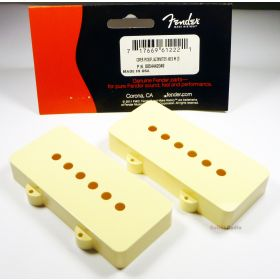 Genuine Fender Jazzmaster Aged White Guitar Pickup Covers - Set of 2