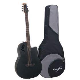 Ovation Elite TX D-Scale DS778TX Acoustic-Electric Guitar - Black with Case