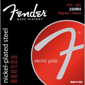 Fender Super 250RH Nickel-Plated Steel Electric Guitar Strings - REG/HEAVY 10-52