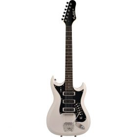 Hagstrom Retroscape Series H-III Double-Cutaway Electric Guitar - GLOSS WHITE