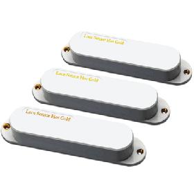 Lace 21153-01 Sensor Hot Gold Pickup Set w/13.2K Bridge, White