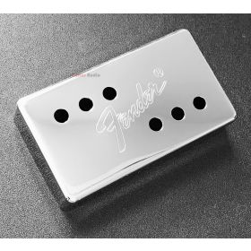 Genuine Fender 72' Tele Telecaster Humbucker Pickup Cover - CHROME with LOGO