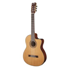 Jasmine by Takamine JC27CE-NAT Acoustic-Electric Cutaway Solid Classical Guitar