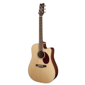 Jasmine by Takamine JD37CE-NAT Solid-Top Dreadnought Acoustic-Electric Guitar