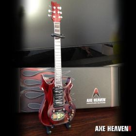 AXE HEAVEN Official Jerry Garcia Top Hat Dead Head Tribute Miniature Guitar Gift