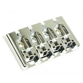 "Hipshot A-Style 4-String Aluminum Bass Bridge .750"" Spacing - CHROME"