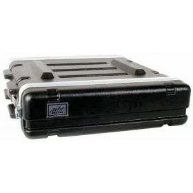MBT 2-Space 2U Lightweight ABS Molded Plastic Rack Mount Road Tour Case