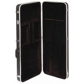 MBT ABS Molded Plastic Deluxe Hardshell Bass Guitar Case - Black