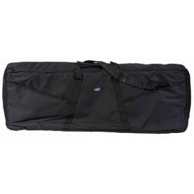 "MBT KBG3 44.5"" x 17"" x 6.5"" Padded Black Keyboard Gig Bag with Straps"