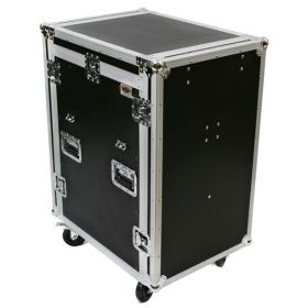 OSP 20-Space ATA Mixer/Amp Rack Flight Tour Road Case with Table - MC12U-20SL
