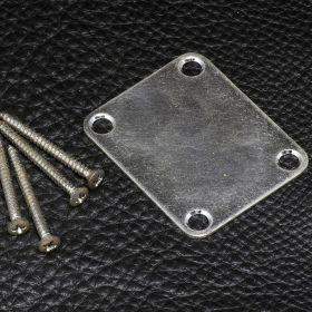 Gotoh NBS-3 Relic Neck Plate w/Screws,  Aged Chrome