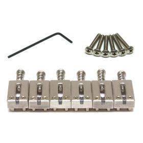 Graph Tech String Saver BRUSHED STEEL CHROME 6 Saddles Set for Fender Strat/Tele