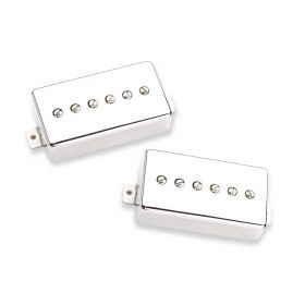 Seymour Duncan SPH90-1 Phat Cat P90 Humbucker-Size Nickel NECK/BRIDGE Pickup Set