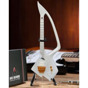 AXE HEAVEN The Artist Formerly Known as- White Auerswald Model C Miniature Guitar Gift