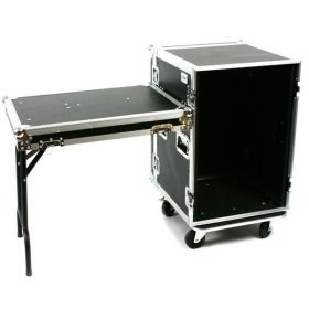 OSP 16-Space ATA 16U Deep Amp Rack Flight Road Tour Case w/ Table - RC16U-20SL