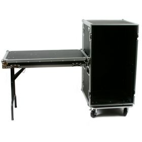 OSP 20-Space ATA 20U Deep Amp Rack Flight Road Tour Case w/ Table - RC20U-20SL
