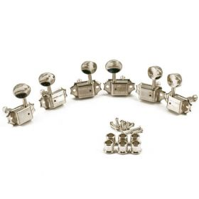 Kluson SD9005MN-DR Tuners 3x3 Oval Metal Button Double Line Housing 15:1 Nickel