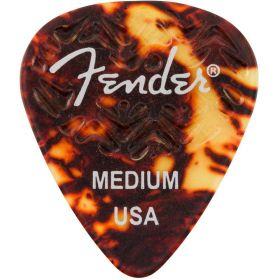 Genuine Fender Wavelength 351 Guitar Picks (6 Pack) MEDIUM, SHELL - 198-3351-300